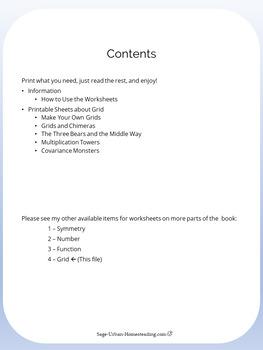 Moebius Noodles Math Worksheets 4 - Grid