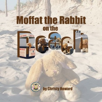 Moffat the Rabbit On A Beach Soft Cover Book
