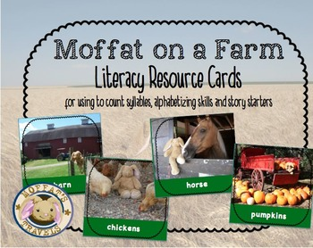 Moffat the Rabbit On A Farm Vocabulary Cards/Activities