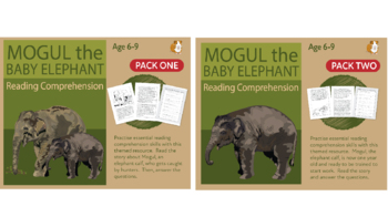 Mogul The Baby Elephant (1 and 2) Let's Practise Our Reading Comprehension (6-9)