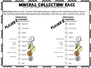 Moh's Hardness Scale, Mineral Partner Game