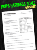 Moh's Hardness Scale Mineral Worksheet