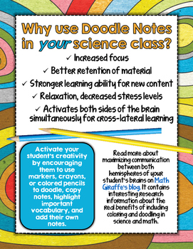 MOH'S SCALE SCIENCE DOODLE NOTES, INTERACTIVE NOTEBOOK, MINI ANCHOR CHART