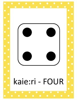 Mohawk Language: Number Word Cards