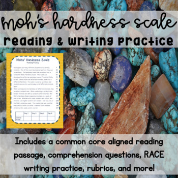 Mohs' Hardness Scale Reading & Writing Practice