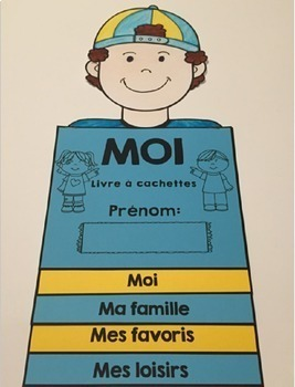 French ALL ABOUT ME FLIP BOOK - Back to School Activity -  LIVRE À CACHETTES