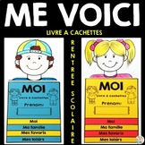 French ALL ABOUT ME FLIP BOOK - Back to School Activity -
