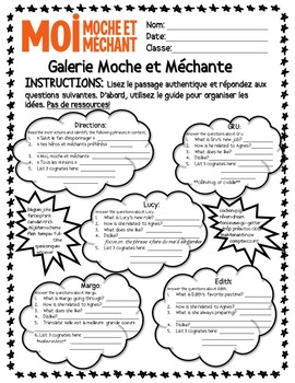 Moi, Moche et Mechant (Despicable Me) Authentic Text French Family Reading