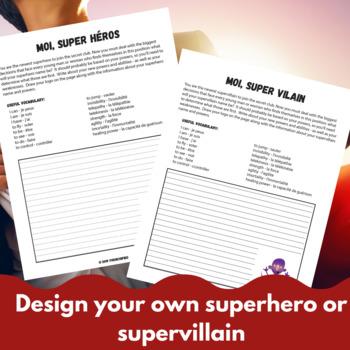 Moi, Super Héros - French writing activity unit