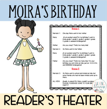 Readers' Theater Script & MORE! - Moira's Birthday by Robert Munsch - Fluency