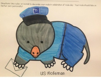 Mol Day / Mole Day Activity: Decorate Your Own Mole