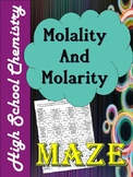 Molality and Molarity Maze