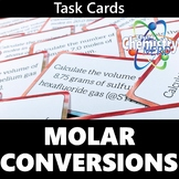 Molar Conversions Printable Task Cards Activity