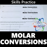 Molar Conversions Skills Practice Worksheets