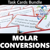 Molar Conversions Task Card Bundle