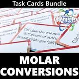 Molar Conversions Task Card Bundle