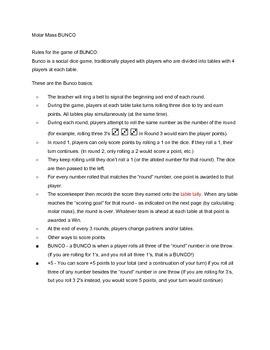 graphic regarding Bunco Rules Printable named Bunco Worksheets Coaching Elements Academics Pay back Academics