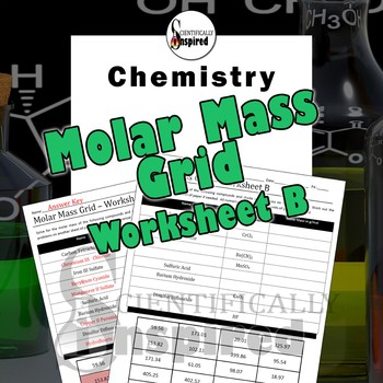 Molar Mass Grid Version B - Nomenclature and Formulas - Easy to Grade!