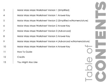 molar mass maze worksheet for review or assessment by science from the south. Black Bedroom Furniture Sets. Home Design Ideas