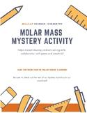Molar Mass Mystery Activity