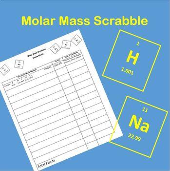 Molar Mass Scrabble