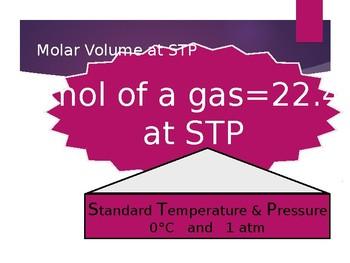 Molarity & Molar Volume Powerpoint