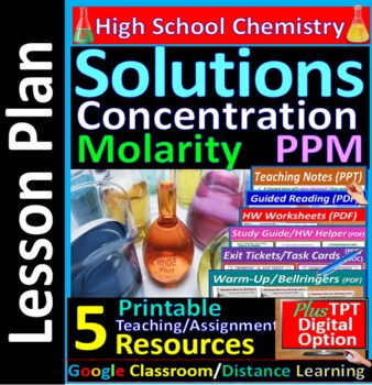 Concentration, Molarity, Parts Per Million: Essential Skills Lesson & WkSht #27