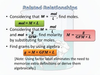 Molarity and Molality