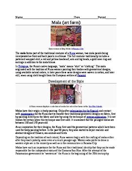 Molas Worksheet