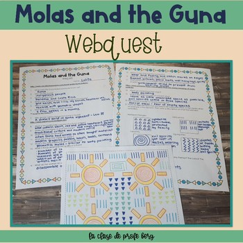 Molas and the Guna Webquest and coloring activity