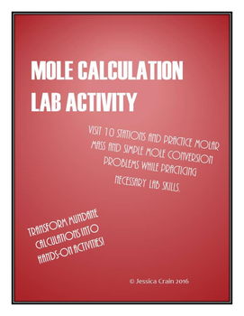Mole Calculation Lab Activity