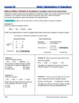 Mole Calculations in Equations -  Guided Study Notes for HS Chemistry