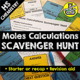 Mole Calculations - treasure hunt