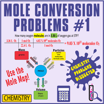 Mole Conversion Problems ~CHEMISTRY DISSECTED~Mole Map Worksheet #1