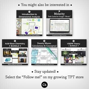 Mole Conversions 10-Question Trail Interactive Practice