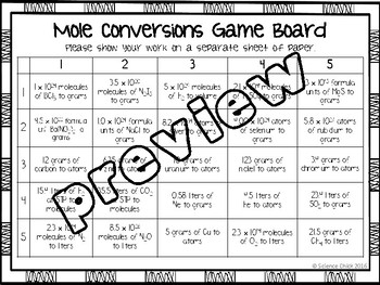 Mole Conversions Partner Activity