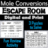 Mole Conversions (moles, mass, and molecules): Chemistry Escape Room - Science