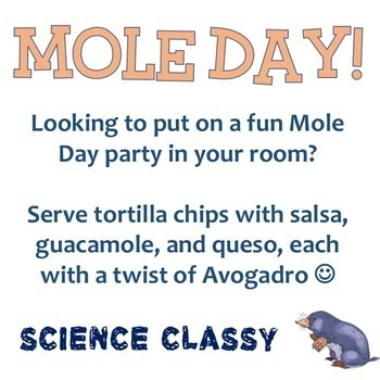 Mole Day Party - Fun Snack Signs!