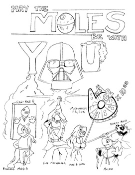 Mole Day Star Wars Themed Design