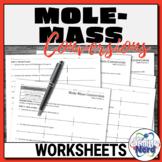 Mole-Mass Conversions Worksheets   Printable and Digital