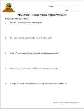 Worksheets Stoichiometry Worksheet (mole-mole) Answer Key free mole practice workshee by amy brown science teachers pay worksheet converting between mass moles and molecules