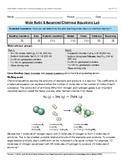 Mole Ratio & Balanced Chemical Equations Lab HS PS1-7