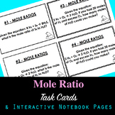 Mole Ratio Task Cards and Interactive Notebook Pages