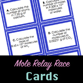 Mole Relay Race Cards and Answer Key