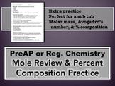 Mole Review & Percent Composition Practice