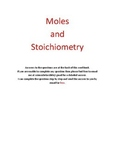 Mole and Stoichiometry problems + answers