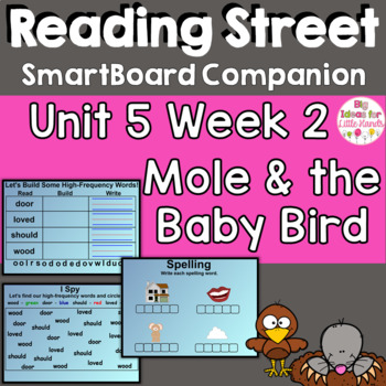 Mole and the Baby Bird SmartBoard Companion 1st First Grade