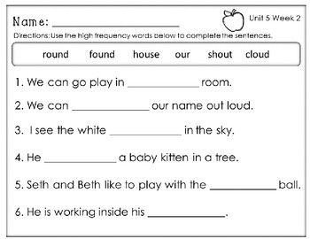Mole and the Baby Bird. Unit 5 Week 2 Reading Street.Centers/Worksheets.