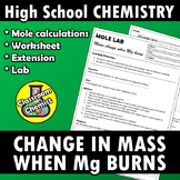 Mole lab - change in mass when magnesium burns