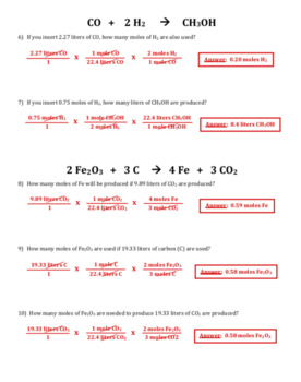 Mole to Liter Stoichiometry (Mole to Volume) - Detailed Examples and Problems